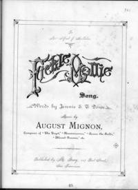 Fickle Mollie : song / words by Jeannie E. T. Dowe ; music by August Mignon