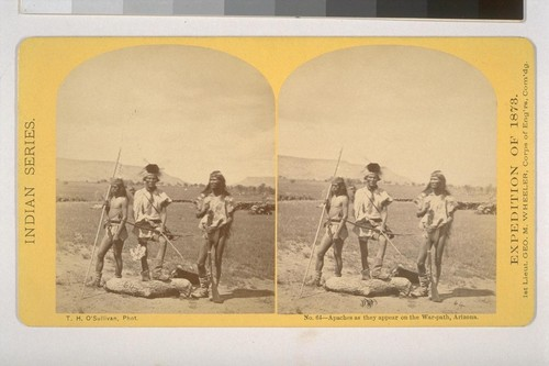 Apaches as they appear on the War-path, Arizona