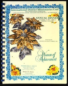 International District Missionaries Unit..., Church of God in Christ annual dinner program, 1995