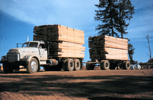 Truck loaded with lumber--Soper-Wheeler Company