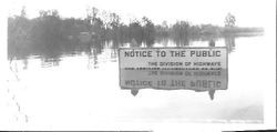 Flood waters at an unidentified location near the Laguna de Santa Rosa in Sebastopol, California, about 1940s