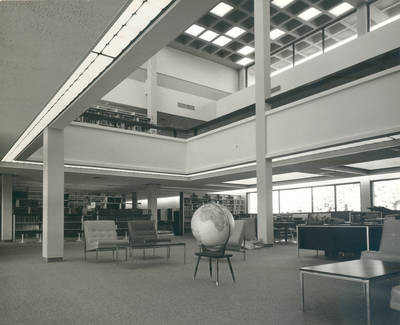 interior of the thurmond clarke memorial library chapman college orange california