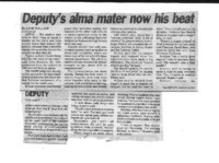 Deputy's alma mater now his beat