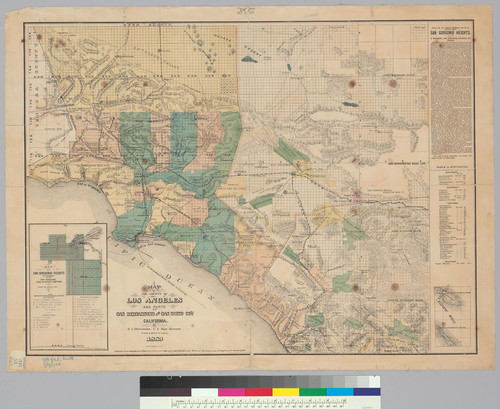 Map of the County of Los Angeles and parts of San Bernardino and San Diego Co's. : California / H.J. Stevenson, U.S. Dept. Surveyor