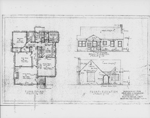 Calisphere architectural drawings for a residence on carrillo architectural drawings for a residence on carrillo street santa rosa california prepared for mr malvernweather Choice Image