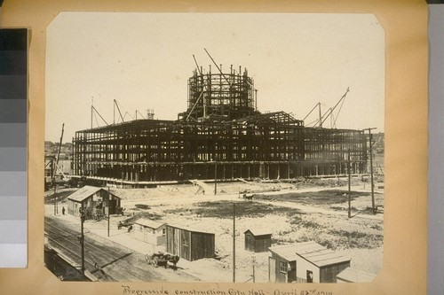 Progressive construction, City Hall. April 23rd, 1914. (Polk St. elevation north from Grove St.) [No. 1815?]