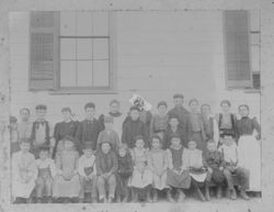 Freestone School students with teacher Miss Louise Witham, about 1895