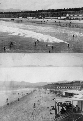Bath houses along the beach