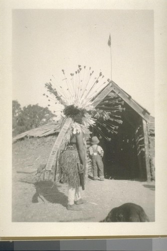Coyote dances and roundhouse; Grindstone Rancheria; May 1923; 48 prints, 9 negatives