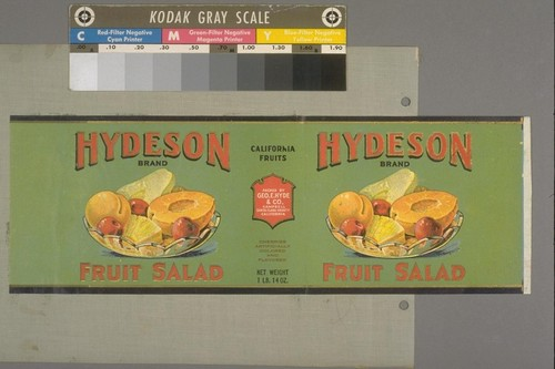 [Hydeson Brand Fruit Salad label]