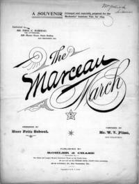 The Marceau march / arranged by Herr Fritz Scheel ; composed by Mr. W. V. Plisé