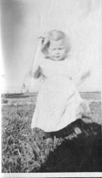 Harriet Elvy at 19 months of age in October 1918