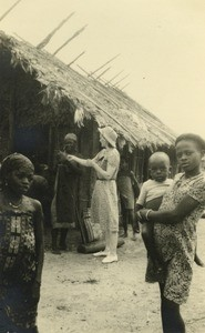 Mrs. Rouzeau visiting a village in Gabon