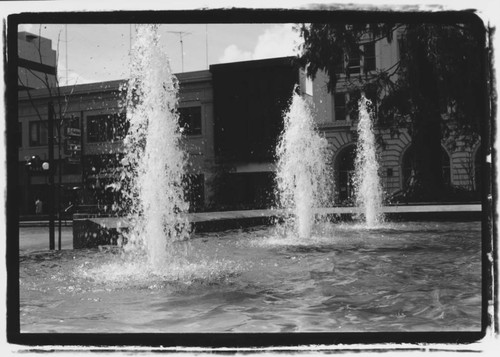 Fountains of Courthouse Square, Santa Rosa, California, 1968