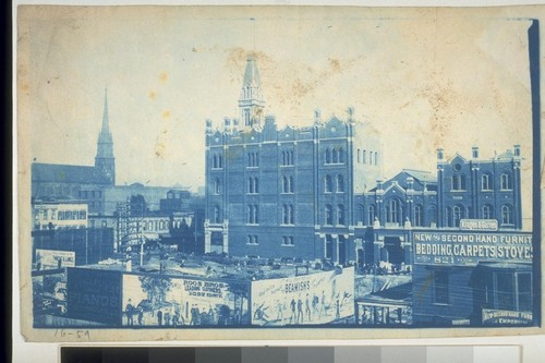 Oakland views, buildings (?) Eureka Fire Station, 1880's