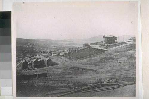 Western boundary of Nob Hill looking toward Presidio. 1860s