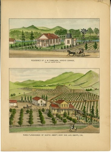 Danglada, J. M., Residence, Arroyo Grande; Abbott, Austin, Ranch and Residence, near San Luis Obispo [On Same Plate]