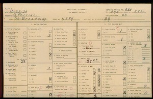 WPA household census for 4384 S BROADWAY, Los Angeles County