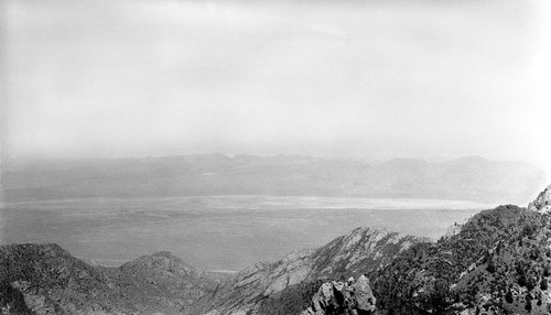 Facing east from mountain northeast of Vallecito in the Sierra San Pedro Mártir with the San Felipe desert in the background