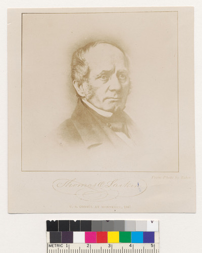 [Portrait of Thomas O. Larkinshot.]