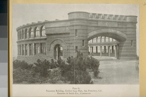 Panorama Building, Golden Gate Park, San Francisco, Cal. [California] Ransome & Smith Co., Contractors [magazine clipping]