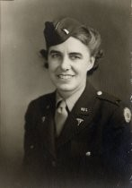 Portrait of Kristena Nelson, wearing U.S. Army Medical Corps uniform