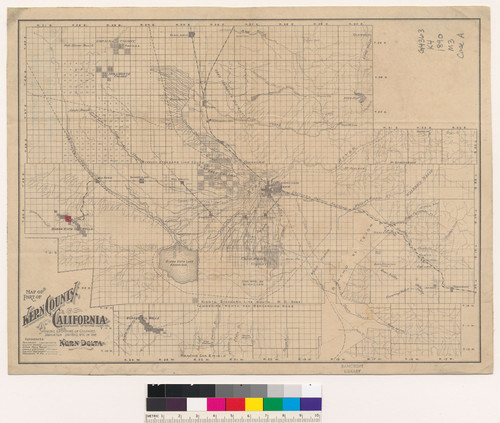 Calisphere: Map of part of Kern County, California : showing ... on detailed map of kern county california, topographic regions of california, lines maps of california, gemstone mine map southern california, map of madera county california,