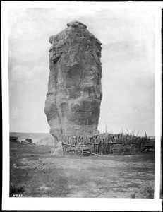 Rock pillar at Acoma, New Mexico, 1886