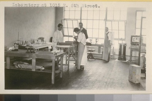 Interior of laboratory at 1015 East Eighth Street