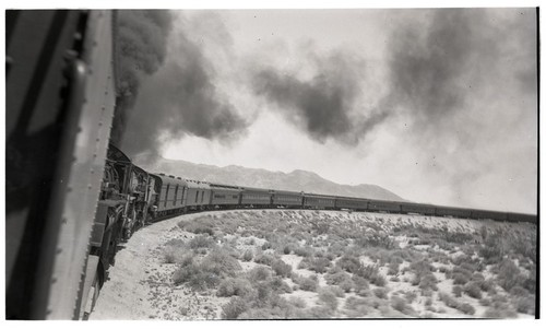 Three engine train near Dos Cabezas, San Diego County