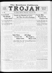The Southern California Trojan, Vol. 8, No. 60, January 24, 1917