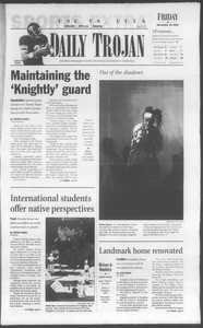 Daily Trojan, Vol. 144, No. 56, November 16, 2001