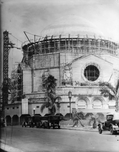 Construction of Wilshire Boulevard Temple, view 6