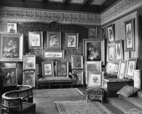 One of Paul de Longpre´'s art galleries
