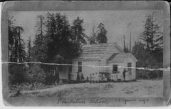 Plantation School, located on Kruse Ranch Road near Salt Point, about 1890