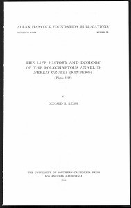 The life history and ecology of the Polychaetous annelid Nereis Grubei (Kinberg)
