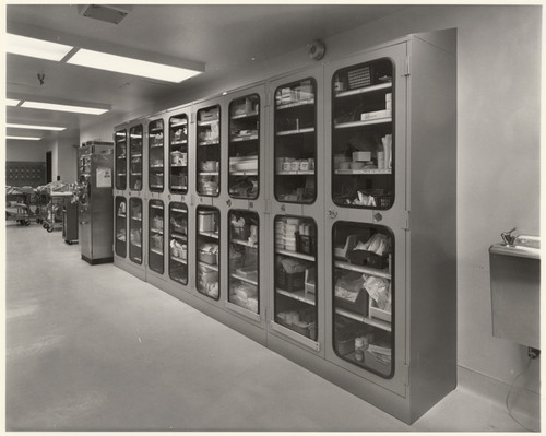 [Medical Storage Cabinets At Holy Cross Hospital, 15031 Rinaldi St., Mission  Hills
