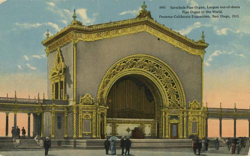 Calisphere: Spreckels Pipe Organ, Largest out-of-doors Pipe