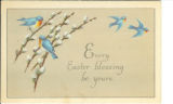 Easter greeting with bluebirds