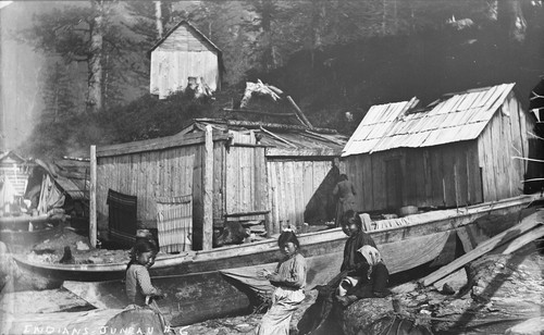 """Indian children at Juneau,"" Alaska. [negative]"