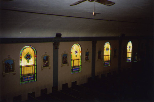 St. Peter Catholic Church, stained glass windows