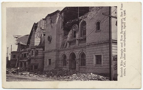 Scotish Rite Temple and New Synagogue, San Francisco, Cal., after the earthquake, April 18, 1906