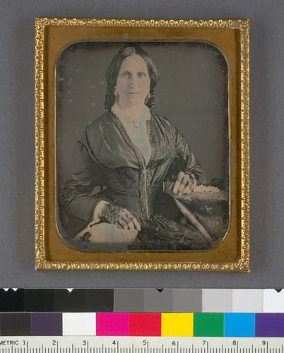 [Unidentified woman, presumably of the Evans or Markham family.]