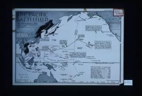 The Pacific Battlefields. Flags indicate major naval bases ... times used are local ... air distances - in statute miles