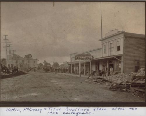 Hattie, McKinney U0026 Titus Furniture Store On Fourth Street, Santa Rosa After  The 1906