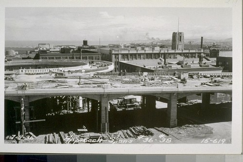 San Francisco Approach, On Ramp, Off Ramp, Concrete Piles, Bent #1, 2, 4, 5, Viaduct, Cellular Structure, Approach Viaduct, Fifth Street Plaza, Approach Spans, Approach Bents, Rincon Hill Regrade, 1935-36--No. 1-242