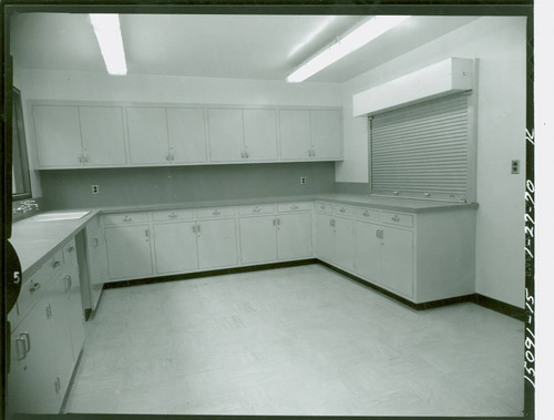 View of the kitchen at Enterprise Park gymnasium