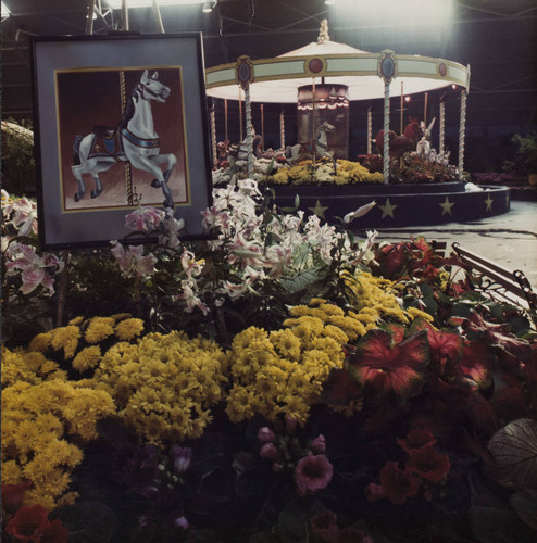 Jubilee of Flowers show at the Hall of Flowers at the Sonoma County Fair, Santa Rosa, California, 1986