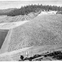 Stampede Dam embankment