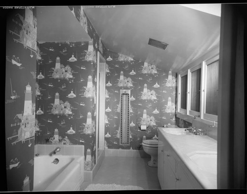 Assignments for Ellen Sheridan: Pfau, William, residence. Bathroom and Wallpaper